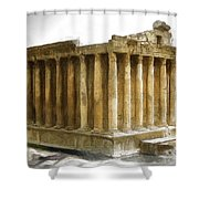 Do-00311 The Temple Of Bacchus Baalbeck Shower Curtain