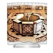 Do-00323 Old Bath Fountain Shower Curtain