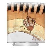 Do-00326 Old Lantern In Beiteddine Shower Curtain