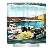 Do-00346 Byblos Port Shower Curtain