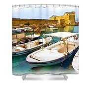 Do-00350 Byblos Port Shower Curtain