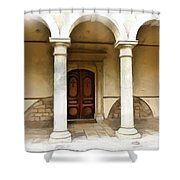 Do-00360 St George Orthodox Church Shower Curtain