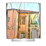 Do-00386 Old Building In Mar Mikhael Shower Curtain