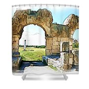 Do-00409 View On Arena In Tyr Shower Curtain