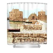 Do-00423 Citadel Of Sidon Shower Curtain