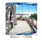 Do-00459 Mar Charbel Aanaya Shower Curtain