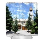 Do-00460 St Charbel Church Shower Curtain