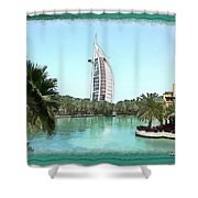 Do-00464 View Of Burj Al-arab Shower Curtain