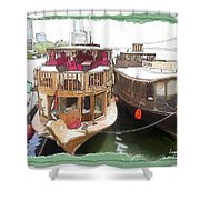 Do-00475 Old Boats Shower Curtain