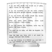 Do It Anyway By Mother Teresa 2 #minimalism #inspirational Shower Curtain