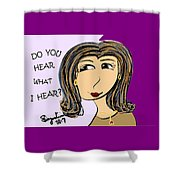 Do You Hear What I Hear? Shower Curtain