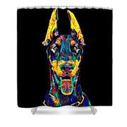 Doberman Dog Breed Head Pet Breed True Friend Color Designed Shower Curtain