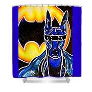 Dog Superhero Bat Shower Curtain