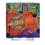 Dobro - Slide Guitar Shower Curtain