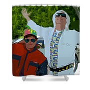 Doc And Marty Shower Curtain
