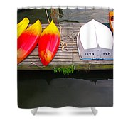 Dock And Boats Shower Curtain