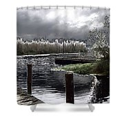 Dock At Dusk Shower Curtain