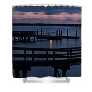 Dock Beacon Shower Curtain