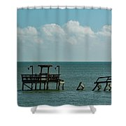 Dock By The Sea Shower Curtain