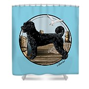 Dock Dog  Shower Curtain