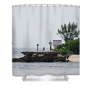 Dock Girl Shower Curtain