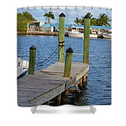 Dock In The Keys Shower Curtain