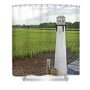 Dock Lighthouse Shower Curtain