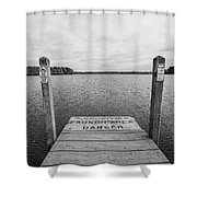 Dock No Diving  Shower Curtain
