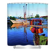 Dock Of Color Shower Curtain