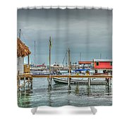 Dock Of The Sea Shower Curtain