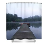 Dock On The Lake Shower Curtain