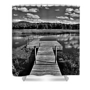 Dock On The Moose River Shower Curtain