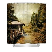 Dock On The Wetlands Shower Curtain