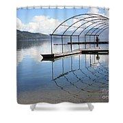 Dock Reflection Shower Curtain