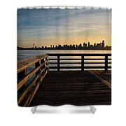 Dock With A View Shower Curtain