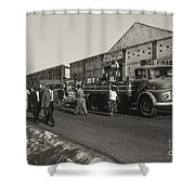 Dock Workers 3 Shower Curtain