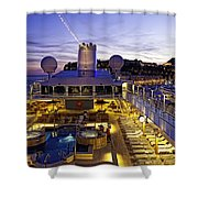 Docked In Monte Carlo Shower Curtain