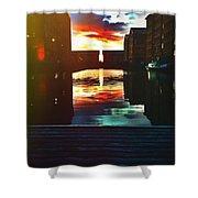 Dockland Sun Down Shower Curtain