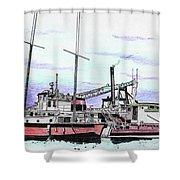 Docks N Boats Shower Curtain