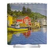 Docks Of Northwest Cove - Nova Scotia Shower Curtain