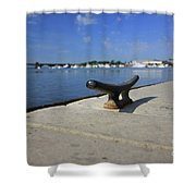 Dock's View Shower Curtain