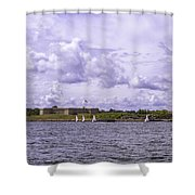 Dockside At Fort Trumbull Shower Curtain