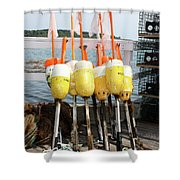 Dockside Huddle Shower Curtain