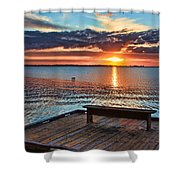 Dockside Sunset By H H Photography Of Florida Shower Curtain
