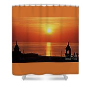 King's Wharf, Bermuda, Sunset # 2 Shower Curtain