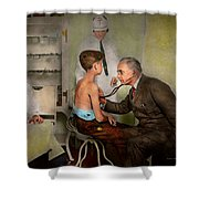 Doctor - At The Pediatricians Office 1925 Shower Curtain