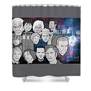 Doctor Who Collage Shower Curtain by Gary Niles
