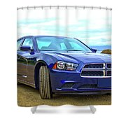 Dodge Charger Shower Curtain