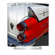 Dodge Coronet Tail Fin Shower Curtain