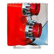 Dodge Coronet Taillight Shower Curtain